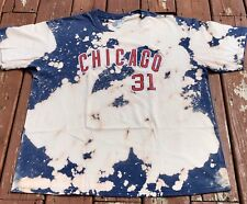 Greg Maddux 2004 Chicago Cubs Vintage Bleached Shirt Size XL