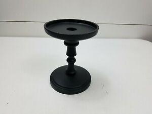 Pottery Barn Booker Short Pillar Candle Holder Bronze New Stand Candleholder