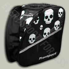 Transpack Edge Ski/Snowboard Boot and Helmet JR Gear Backpack -Green Skull (NEW)