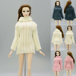 Knitted Woven Handmade Tops Clothes Sweater For Barbie Doll Hat For Blythe Dolls