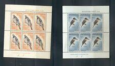 New Zealand #B59a-60a  (1960 Birds Health sheets) VFMNH CV $26