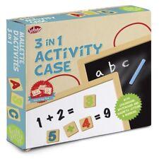 3 en 1 caso de actividad - 28342 letras seco wipeboard Pizarra Tiza Pluma de viaje