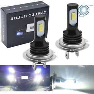 LED Headlight Bulbs Kit High Low Beam H7 100W 8000LM Super Bright 6500K White