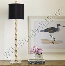 "Evreux Buffet Lamp Gold 37""H Metallic Metal Bamboo Table Light Ballard Designs"