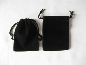 "Lot of >>25<< Black 3"" x 2.5"" Jewelry Pouches Jewelry Bags Rosary Gift Wedding"