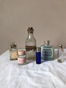Vintage Glass Small Bottle Vial Lot