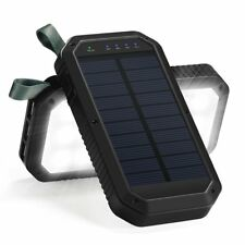 Solar Charger, 8000mAh 3-Port USB and 21LED Light Solar Power Bank Portable