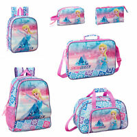 Disney Frozen Backpack Rucksack Lunch Girls School Bag Travel Nursery ICE MAGIC