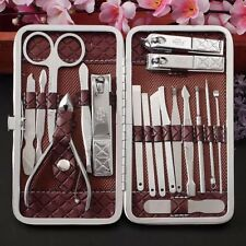 18PC Manicure Pedicure Set Stainless Steel Nail Clippers Kit Nail Cutter Set AU