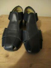 FLEXX Womens Navy Leather Wedge Shoes Size 4 [EU 37] VGC