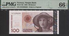 TT PK 49c 2006 NORWAY NORGES BANK 100 KRONER KRISTEN FLAGSTAD PMG 66 EPQ GEM UNC