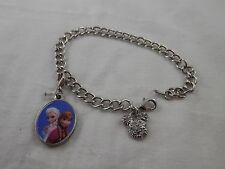 Disney Minnie Mouse  Crystal charm Bracelet with Frozen Ana & Elsa charm