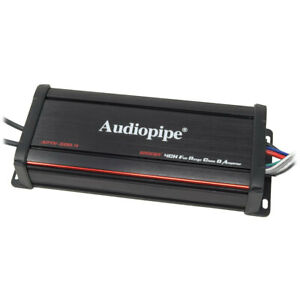Audiopipe 1200W 4-Ch Micro Amp Powersports Waterproof  RZR Motorcycle UTV Marine