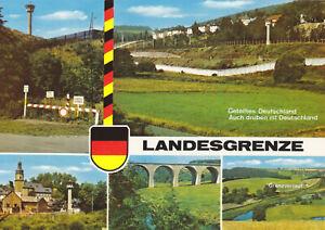 AK, Saaletal, Blick über die Landesgrenze, fünf Abb., 1980er