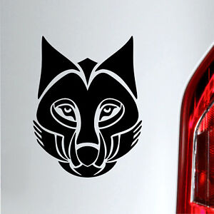 Auto Aufkleber Wolf tribal tuning sticker