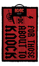 Official AC/DC For Those Who Knock Welcome Door Mat Home Music Rock Band Gift