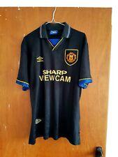 Manchester United Original 1993 Away Jersey Shirt L Large Mens Black Umbro Man U