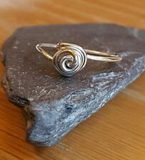 Handmade 925 Sterling Silver Knotted/Rose Wire Single Wrapped Ring  Boho Hippy