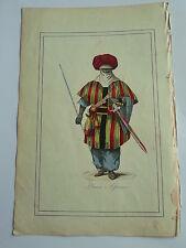 PRINCE AFRICAIN en costume LITHOGRAPHIE originale du recueil  M.BOULGON 1860