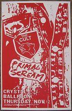 The Cult & Primal Scream 2015 Gig Poster Portland Oregon Concert