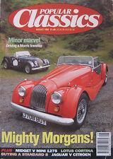 Popular Classics 08/1992 featuring Morgan, MG, Mini, Lotus, Wolseley, Jaguar