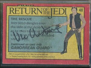 Vic Armstrong Han Solo Signed 1983 Topps Star Wars Return Jedi Card Autograph