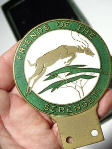 RARE Friends of the Serengeti Automotive Medal Badge Tanzania East Africa c1960s
