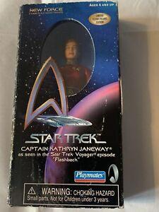 1999 Playmates New Force Star Trek Voyager Captain Kathryn Janeway Figure