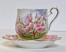"Royal Albert ""Blossom Time"" Vintage English Bone China Cup and Saucer"