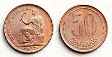 España-II Republica Española. 50 Centimos 1937** Madrid. UNC/SC Cobre 6 g.