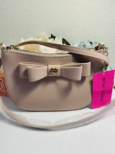Betsey Johnson Beige crossbody Blush BB  Handbag Satchel (Retail Price 88.00)