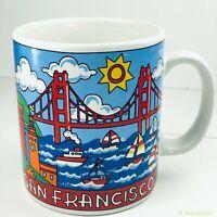San Francisco Coffee Mug Golden Gate Bridge Unique Sunny Ceramic Boats Cup 12oz