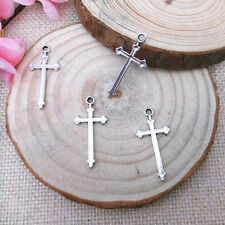 Wholesale 12pcs Tibet Silver Cross Charm Pendant Beaded Jewelry 120