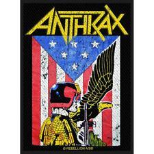 More details for official licensed - anthrax - judge dredd sew-on patch thrash metal