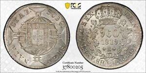 1819-R Brazil Silver 960 Reis - PCGS MS63