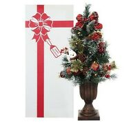 "Kringle Express 24"" Pre-lit  Christmas Tree in urn H201456 COUNTRY PLAID"