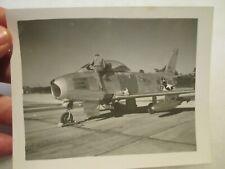 *Photo* Usaf F-86 Sabrejet Aircraft - Virginia Ang 1960's ~ Original Print
