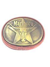 Marlboro Cigarette Belt Buckle Phillip Morris Circa 1987 Brass