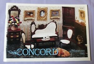 1992 Concord Miniatures Catalog of Doll House Furniture