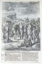 Vecchia BIBBIA antica stampa LUNEBURG da M scheits c1672 Moses Deuteronomio Incisione