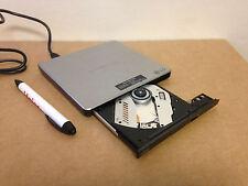 LG GP08 Lite 8x DVD±RW DL USB Slim External Drive Burner Writer Reader - Silver