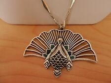 Lucky Brand Peacock Long Pendant Necklace MSRP $45.00