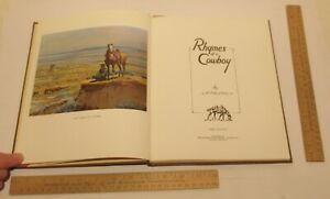 RHYMES Of a COWBOY - by J K RALSTON - First Edition hardback book - illustrated