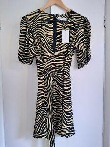 Faithfull The Brand Ilia Zebra Dress - Size Small - new with tags