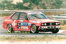 1988 BMW M3 GR A HUNGARO TEAM ESTORIL EUROTURISMO GRANDE FOTO ORIGIN AUTO 18x25