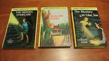 Lot of 3 Nancy Drew Mystery Stories books 2, 3, and 4 by Carolyn Keene