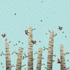 paneel Pájaro Tronco de abedul 57 cm x 150cm Algodón