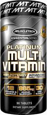 MuscleTech Essential Series Platinum Multi Vitamins 90 Caplets Multivitamins.