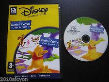 JEU PC CD-ROM : Disney WINNIE L'OURSON C'est la récré !  (enfants, envoi suivi)