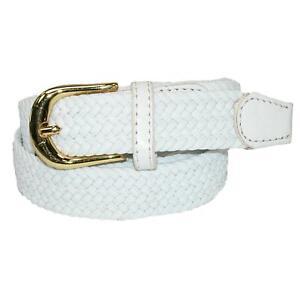 New CTM Women's Elastic Braided Stretch Belt